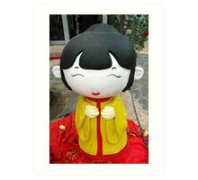 chinesse doll Art Print