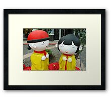 chinesse doll Framed Print