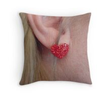 The Heart Hears Throw Pillow