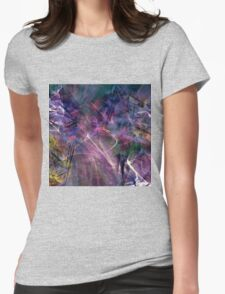 beautiful colorful abstract art Womens Fitted T-Shirt