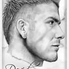 David Beckham portrait by wu-wei