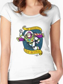 To infinity! Women's Fitted Scoop T-Shirt
