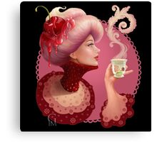 Tea and a Cupcake Canvas Print