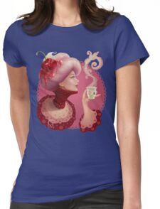 Tea and a Cupcake Womens Fitted T-Shirt