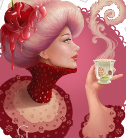 Tea and a Cupcake Sticker