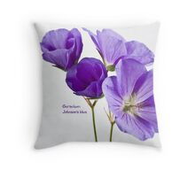 Geranium, Johnson's blue Throw Pillow