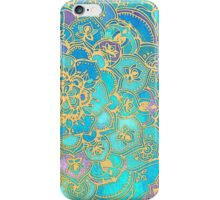Sapphire & Jade Stained Glass Mandalas iPhone Case/Skin