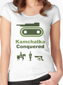 Risiko Kamchatka Green Women's Fitted Scoop T-Shirt
