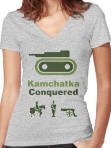 Risiko Kamchatka Green Women's Fitted V-Neck T-Shirt