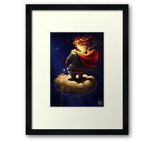 Evil Super Hero Framed Print