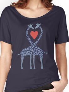 Giraffes in Love - A Valentine's Day Illustration Women's Relaxed Fit T-Shirt
