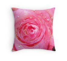Pink rose. Throw Pillow
