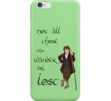 Not all those who wander Tolkien iPhone Case/Skin