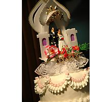 wedding cake ornament Photographic Print