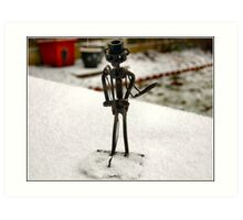 FREEZING MY NUTS OFF HERE !! Art Print