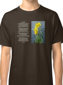 Wordsworth's Dances with the Daffodils Classic T-Shirt