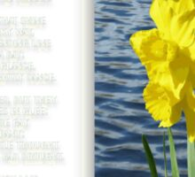 Wordsworth's Dances with the Daffodils Sticker