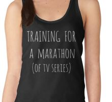 training for  a  marathon (of tv series) - white Women's Tank Top