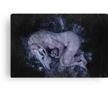 You left me to freeze Canvas Print