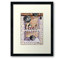 The Pickle Shelf in France Framed Print