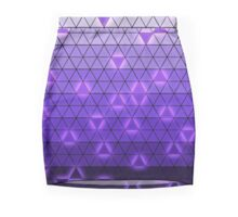 Triangle Purple Gradient Mini Skirt