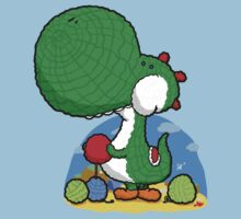 Wooly Egg Chucking Dinosaur Kids Tee