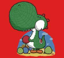 Wooly Egg Chucking Dinosaur Kids Tee