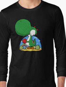 Wooly Egg Chucking Dinosaur Long Sleeve T-Shirt