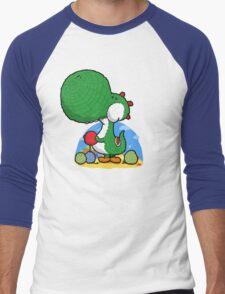 Wooly Egg Chucking Dinosaur Men's Baseball ¾ T-Shirt