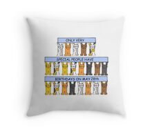 May 28th Birthdays with cats Throw Pillow