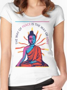 I want Love and Peace Women's Fitted Scoop T-Shirt