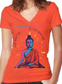I want Love and Peace Women's Fitted V-Neck T-Shirt