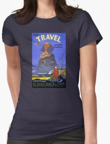 Egypt vintage travel poster Restored Womens Fitted T-Shirt