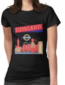 London England UK Womens Fitted T-Shirt
