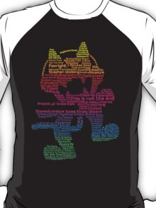 Monstercat Rainbow Typography  T-Shirt