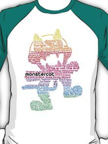 Monstercat Rainbow Typography  T-Shirt