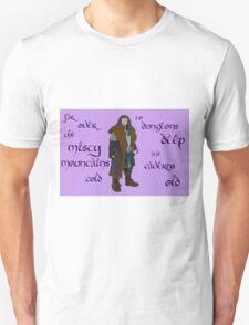 The Hobbit Misty Mountains Unisex T-Shirt