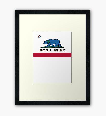 Grateful Republic Framed Print