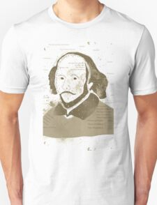 Vintage Portrait of William Shakespeares Unisex T-Shirt