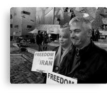 Demonstrators at Iranian Rally Canvas Print