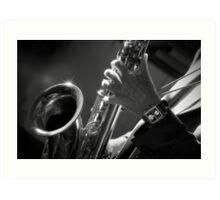 Saxophone playing Art Print
