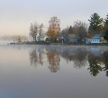 Misty Morning Reflection by Judith Hayes