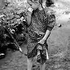 Mennonite Girl in a Stream by photosbytony