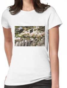 Facades and Fruit Trees - the Villa and the Apple Womens Fitted T-Shirt