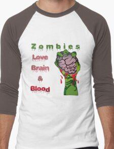 Halloween Night with Zombies Men's Baseball ¾ T-Shirt