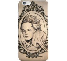 a lady and her champion iPhone Case/Skin