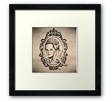a lady and her champion Framed Print