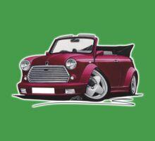 Mini Cabriolet Maroon Kids Tee