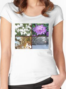 THE CHANGING SEASONS Women's Fitted Scoop T-Shirt