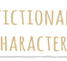 sometimes I care about fictional characters more than real people Sticker